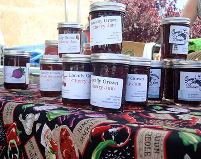 Jams and Jellies at Amador Farmers Market