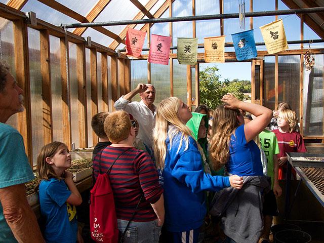 Daniel D'Agostini hosts Sutter Creek Elementary School Students at Abbondanza